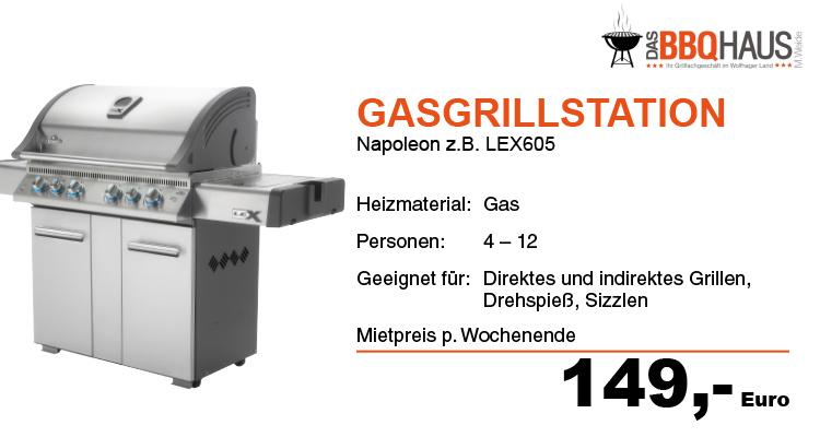 Gasgrillstation