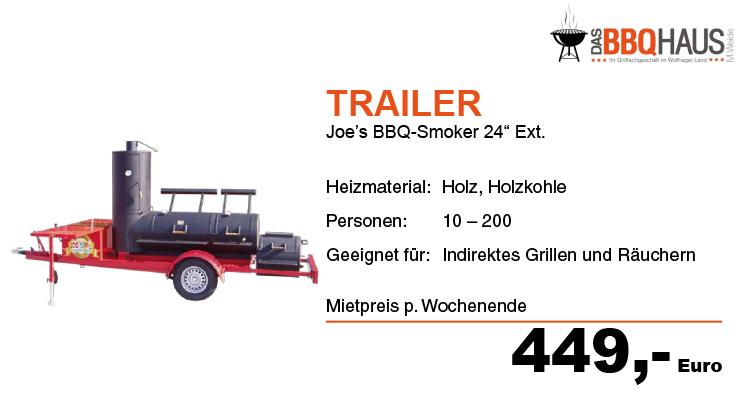 Trailer BBQ-Smoker